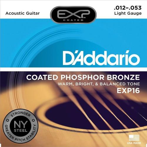 Chính hãng 100 dây đàn guitar acoustic d addario exp16 size 12