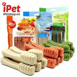 Đồ Ăn Vặt Xương Gặm Sạch Orgo Răng Hình Bàn Chải Calcium Vị Bạc Hà – iPet Shop