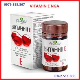 Vitamin E đỏ Nga - vitaminE đỏ Nga - nội địa Nga dạng lọ 30 viên - MADE IN RUSSIA - SP002 thumbnail