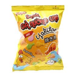 Lốc 5 Snack Gà Nướng Cay JoJo Gói 36g