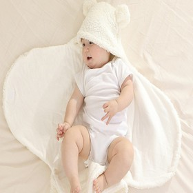 Áo ủ có mũ - Chất liệu cotton mềm mại - áo lông có mũ bé trai bé gái - Áo ủ có mũ