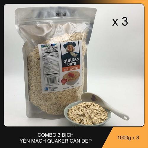 Combo 3kg yến mạch cán mỏng quaker oats của mỹ - 20324615 , 23025545 , 15_23025545 , 150000 , Combo-3kg-yen-mach-can-mong-quaker-oats-cua-my-15_23025545 , sendo.vn , Combo 3kg yến mạch cán mỏng quaker oats của mỹ
