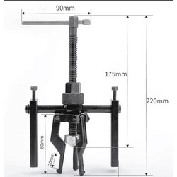 Cảo 3 chấu bạc đạn trong 16-38mm