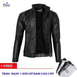 Áo khoác da lót lông nam thời trang cao cấp AKD021 ĐEN