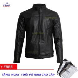 Áo khoác da lót lông nam thời trang cao cấp AKD021