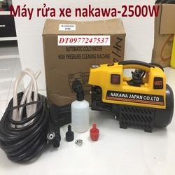 Máy Rửa Xe NAKAWA 2500W-tặng dây 15m, bình xà phòng - NKW9070