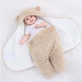 Áo ủ lông cho bé - Túi ngủ cao cấp , Chăn quần dạng khăn ủ kén quấn nhộng lông cừu cho trẻ sơ sinh đến 6 tháng tuổi - Túi ngủ cao cấp