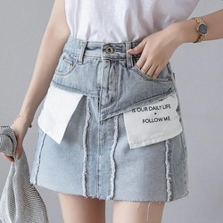Chân váy Jean thiết kế lộn ngược không đụng hàng.bao xinh trẻ trung năng động-301