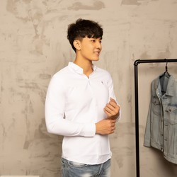 Áo sơ mi nam trắng thời trang Hàn Quốc vải đẹp chất lượng A401 MuiDoi