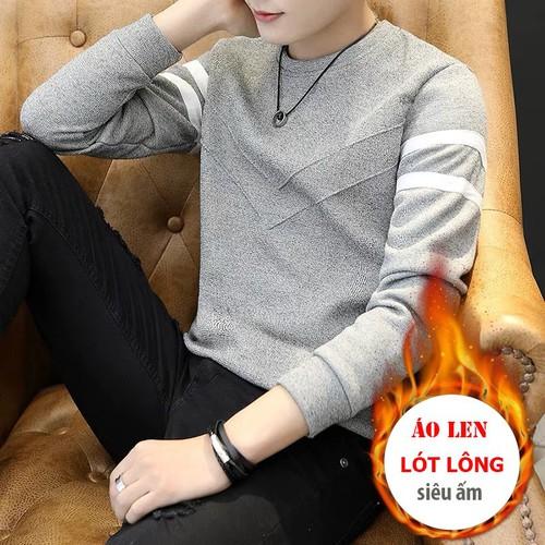 Áo len nam cổ tròn, họa tiết chữ v, 3 màu đỏ – nâu – ghi
