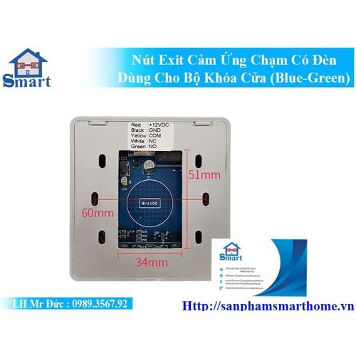 Nút exit cảm ứng chạm có đèn dùng cho bộ khóa cửa - 20339561 , 23057390 , 15_23057390 , 220000 , Nut-exit-cam-ung-cham-co-den-dung-cho-bo-khoa-cua-15_23057390 , sendo.vn , Nút exit cảm ứng chạm có đèn dùng cho bộ khóa cửa