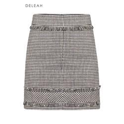 De Leah - Chân váy mini tweed tua rua - Thời trang Thiết kế