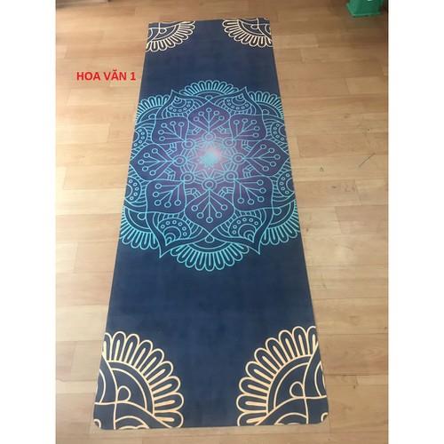 Thảm tập yoga du lịch hoa văn 1 6 mm tặng túi đựng chuyên dụng