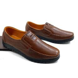 Giày lười nam da bò nhập khẩu nguyên tấm kiểu dáng thời thượng - Được kiểm hàng trước khi thanh toán
