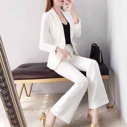 bộ áo vest màu trắng áo vest kèm quần dài size M L XL 2Xl