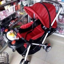 Xe đẩy 2 chiều 3 tư thế cho bé từ 0 đến 3 tuổi - Có nhạc, giỏ đồ