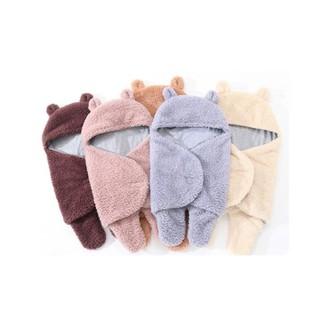 Áo ủ lông cho bé - Túi ngủ cao cấp , Chăn quần dạng khăn ủ kén quấn nhộng lông cừu cho trẻ sơ sinh đến 6 tháng tuổi - Áo ủ lông - Túi ngủ cao cấp thumbnail