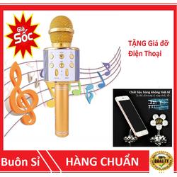 [XẢ KHO] COMBO 2 Micro Karaoke Loa Bluetooth WS-858 đa năng 6 trong 1 -Tặng giá đỡ điện thoại Vip- Hàng loại 1