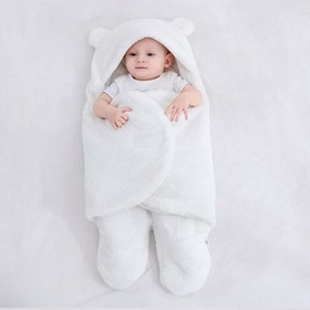 Túi ngủ cao cấp , Chăn quần dạng khăn ủ kén quấn nhộng lông cừu cho trẻ sơ sinh đến 6 tháng tuổi - Túi ngủ cao cấp- áo cho bé