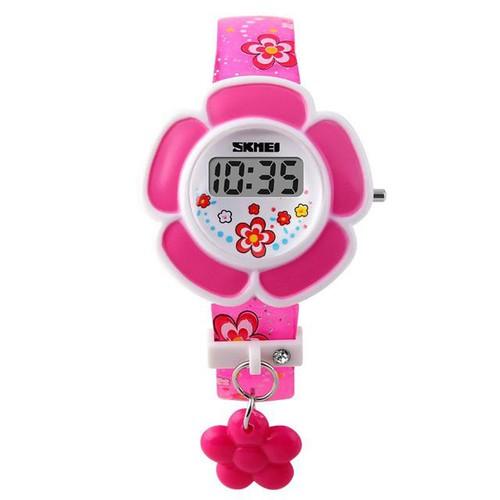 Đồng hồ trẻ em bé gái skmei 1144 dây silicon