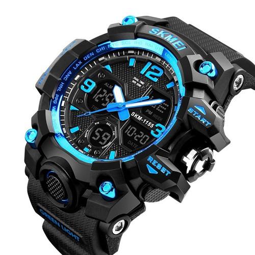 Đồng hồ nam skmei điện tử thể thao chống nước sk1155b xanh dương