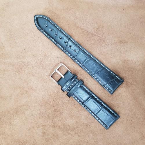 Dây đồng hồ time seller size 20mm gân chỉ trắng