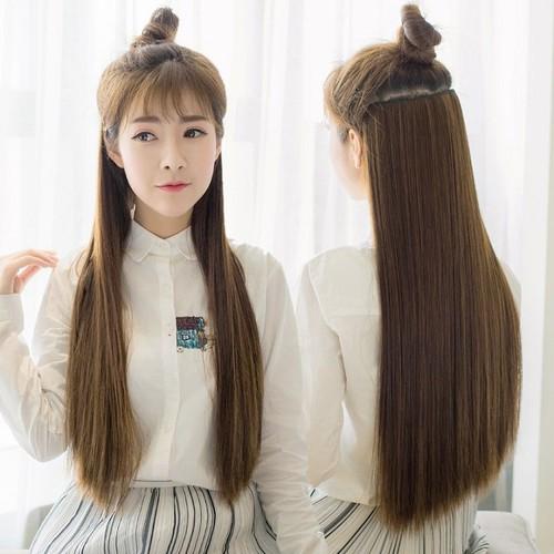 Tóc giả thẳng cao cấp dài 60 cm - tóc giả cao cấp dài suôn mượt - tóc giả - tóc giả thẳng - h2vrg001