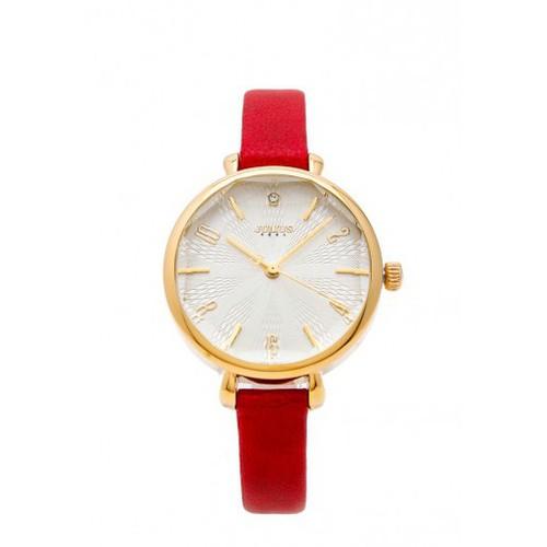 Đồng hồ nữ julius hàn quốc dây da ja 886b ju1086 đỏ
