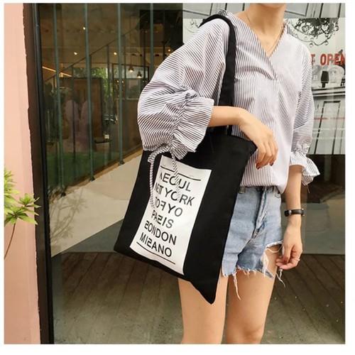 Mochio bags túi vải phong cách hàn quốc