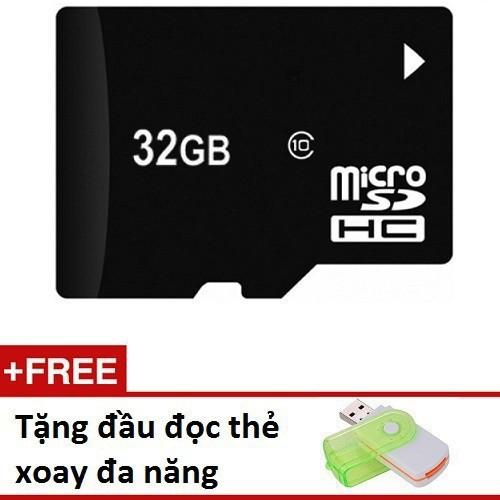 Super sale thẻ nhớ micro sd 32gb tặng đầu đọc xoay đa năng td