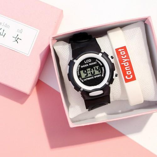 Đồng hồ điện tử trẻ em chống nước sport dây cao su siêu bền nhiều màu