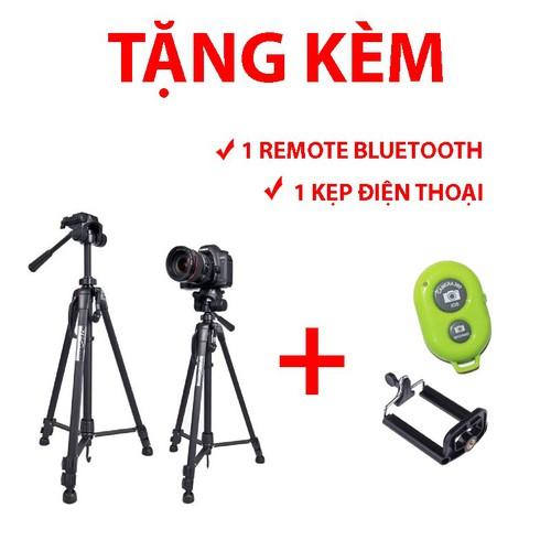 Chân máy ảnh và điện thoại weifeng wf 3520 tặng kẹp điện thoại