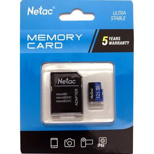 Thẻ nhớ sd micro netac 32gb class 10 bảo hành 5 năm