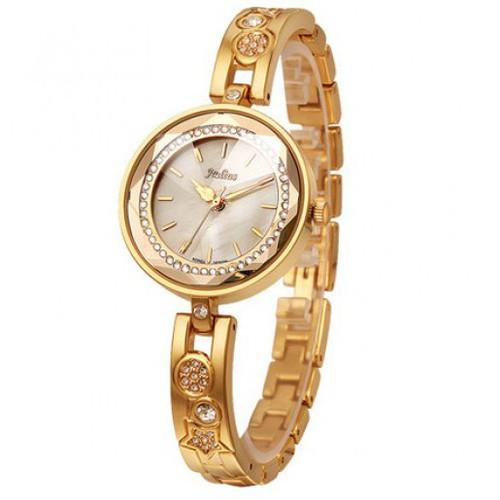 Đồng hồ nữ ja 624c ju954 julius hàn quốc dây thép quý phái vàng