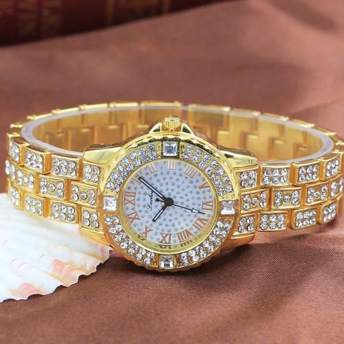 Đồng hồ nữ luobos m002 dây kim loại đính đá mua ngay mua ngay