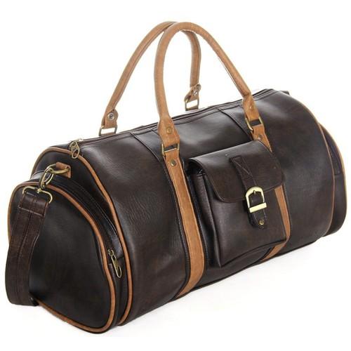 Túi da pu thời trang freeship 99k toàn quốc túi du lịch cnt unisex tx20 nâu phong cách thời trang châu âu 6666