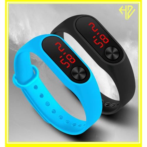 Đồng hồ dây cao su điện tử trẻ em led hazo siêu cấp d293