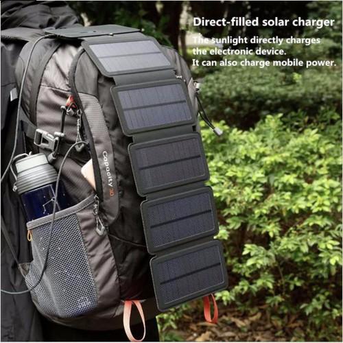 Tấm pin năng lượng mặt trời solar 5cell usb backpack 8w - home and garden