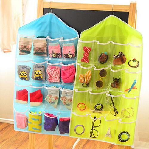 Rẻ nhất túi treo 16 ngăn giao màu ngẫu nhiên