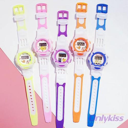 Đồng hồ dây silicon phong cách hàn quốc xinh xắn dành cho bé