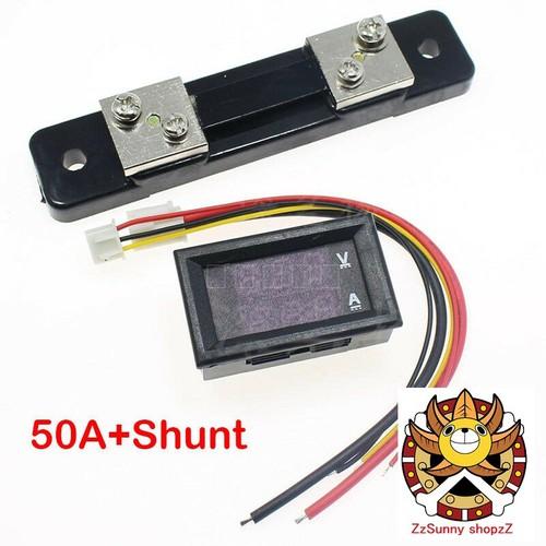 Đồng hồ đo áp và dòng  dc 50a kèm trở shunt