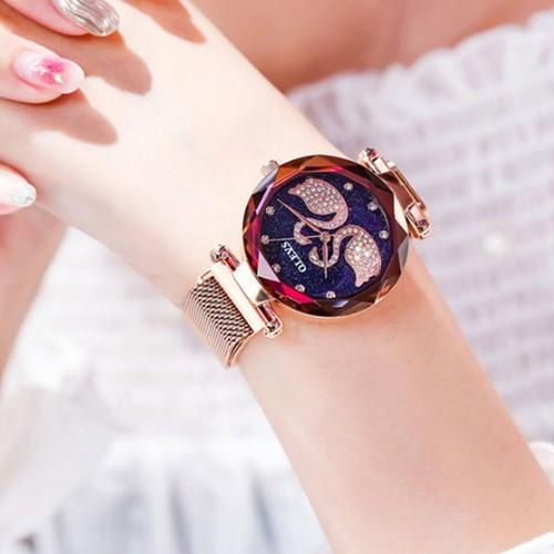 Đồng hồ nữ olevs olh01 dây thép nhuyễn mặt thiên nga đủ màu sắc siêu xinh