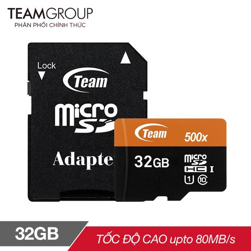 Mã elma300 giảm 10 đơn 300k thẻ nhớ microsdhc team 32gb 500x upto 80mb s class 10 u1 kèm adapter cam - 20350583 , 23074866 , 15_23074866 , 118000 , Ma-elma300-giam-10-don-300k-the-nho-microsdhc-team-32gb-500x-upto-80mb-s-class-10-u1-kem-adapter-cam-15_23074866 , sendo.vn , Mã elma300 giảm 10 đơn 300k thẻ nhớ microsdhc team 32gb 500x upto 80mb s class