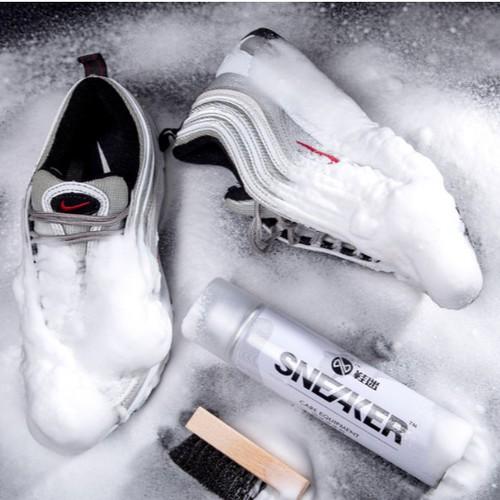 Bình xịt bọt tuyết vệ sinh trắng sáng giày dép tẩy trắng sneaker cao cấp