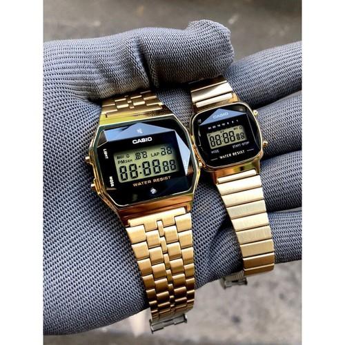 Đồng hồ la670 diamond gold xách tay nữ dây classic tặng bộ fullbox