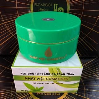 Kem dưỡng trắng da toàn thân tinh chất trà xanh serum Nhật Việt 180g - nhatviettraxanh thumbnail