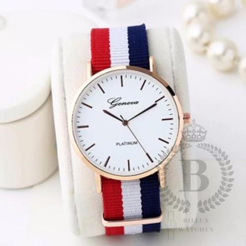 Đồng hồ nam geneva phong cách tây billux dây vải 40mm xanh gnvmt009
