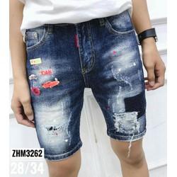 Quần shorts jeans nam lạ ZHM3262