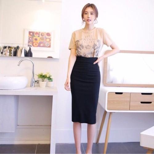 Chân váy bút chì dáng dài - chân váy công sở - chân váy nữ
