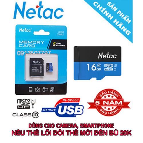 Hac thẻ nhớ 16g micro sd netac netac 16g